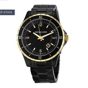 Michael Kors black stainless steel watch